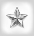 silver star of five points design vector image