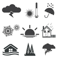 weath set icons vector image