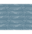 seamless pattern with airplanes profiles vector image vector image