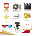 cinema icons vector image
