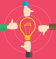 businessman like concept bulb light idea vector image