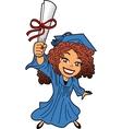 Young Woman Graduation vector image