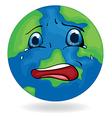 A sad Earth vector image