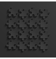 modern black puzzle background vector image