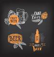 Beer restaurant cafe badges drink template design vector image