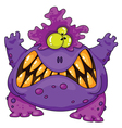 terrible monster vector image vector image