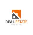 abstract house logo design template vector image