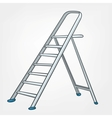 cartoon home ladder vector image