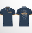 Color men polo shirts vector image