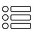 menu line icon web and mobile hamburger sign vector image