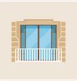 modern balcony classical house facade vector image