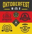 Oktoberfest badge logo and labels set vector image