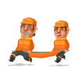 rescue team run cartoon vector image