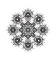 Round ornamental shape black pattern of vector image