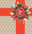 happy new year post card vector image vector image