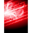 Shiny red tech background vector image vector image