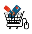 shopping cart online game mouse technology virtual vector image