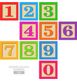 Wooden blocks numbers vector image vector image
