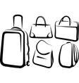 set of bag icons vector image