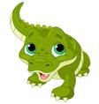 Baby alligator vector image