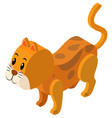 3d design for ginger cat vector image