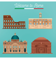 Rome Architecture Tourism Italy Buildings vector image