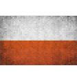 Abstract Mosaic Flag of Poland vector image