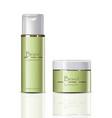 cream and tonic set realistic cosmetics vector image