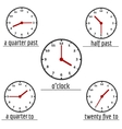 English education banner with clock vector image