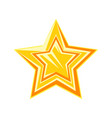 golden cartoon glossy star vector image