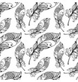 hand drawn seamless plumage pattern vector image