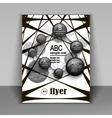 modern pattern booklet for information vector image