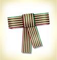 Retro gift bow Ribbon vector image