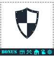 Shield icon flat vector image