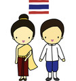 Thailand traditional costume vector image