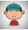crying boy with a blue cap vector image