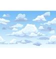 cartoon blue cloudy sky horizontal seamless vector image
