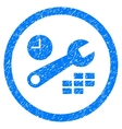 Date And Time Configuration Rounded Icon Rubber vector image
