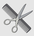Barber Scissor and Comb vector image