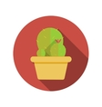 Cactus Flat Design Concept Icon With Long Sh vector image