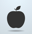 Apple with leave icon vector image