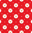 Red seamless pattern with cute sheep vector image