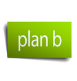 plan b square paper sign isolated on white vector image