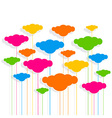 cloud design pattern background vector image