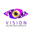 Eye logo template vector image