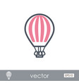 hot air balloon outline icon summer vacation vector image