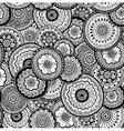 Nature seamless pattern Mehndi style vector image
