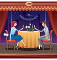 Romantic date in a restaurant vector image