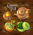 tea background vector image