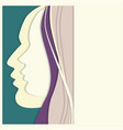 vetor colorful woman and man paper profiles vector image
